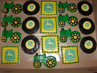 Happy Birthday, John Deere! These John Deere themed cookies were created for
