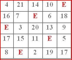 Tantangan Magic Square 5x5 Yana 2