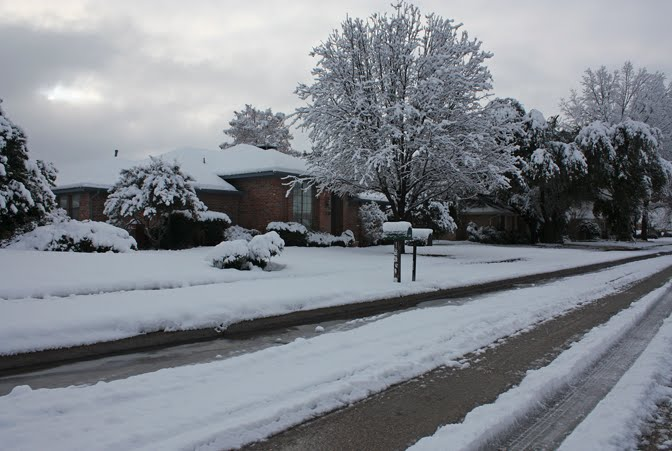 Our snow-covered home
