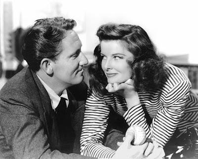 Spencer Tracy and Katherine Hepburn