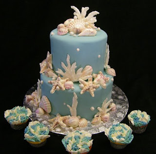 wilton wedding decoration cakes with shells