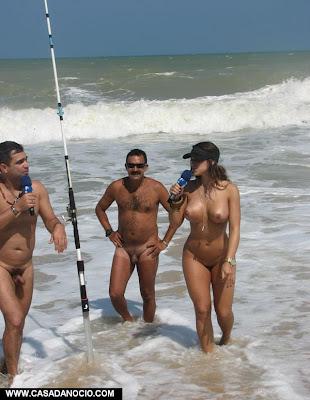 Diario da putaria- Samambaia pelada na praia