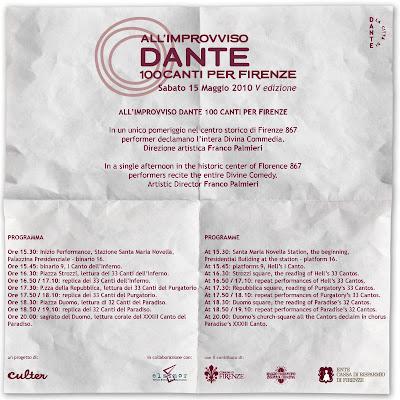 all improvviso dante 100 canti per Firenze