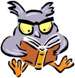 Búho leyendo un libro