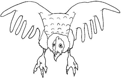 Dibujo del condor para colorear pintar