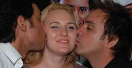 Guilherme, Juliana Lunardelli e Santiago