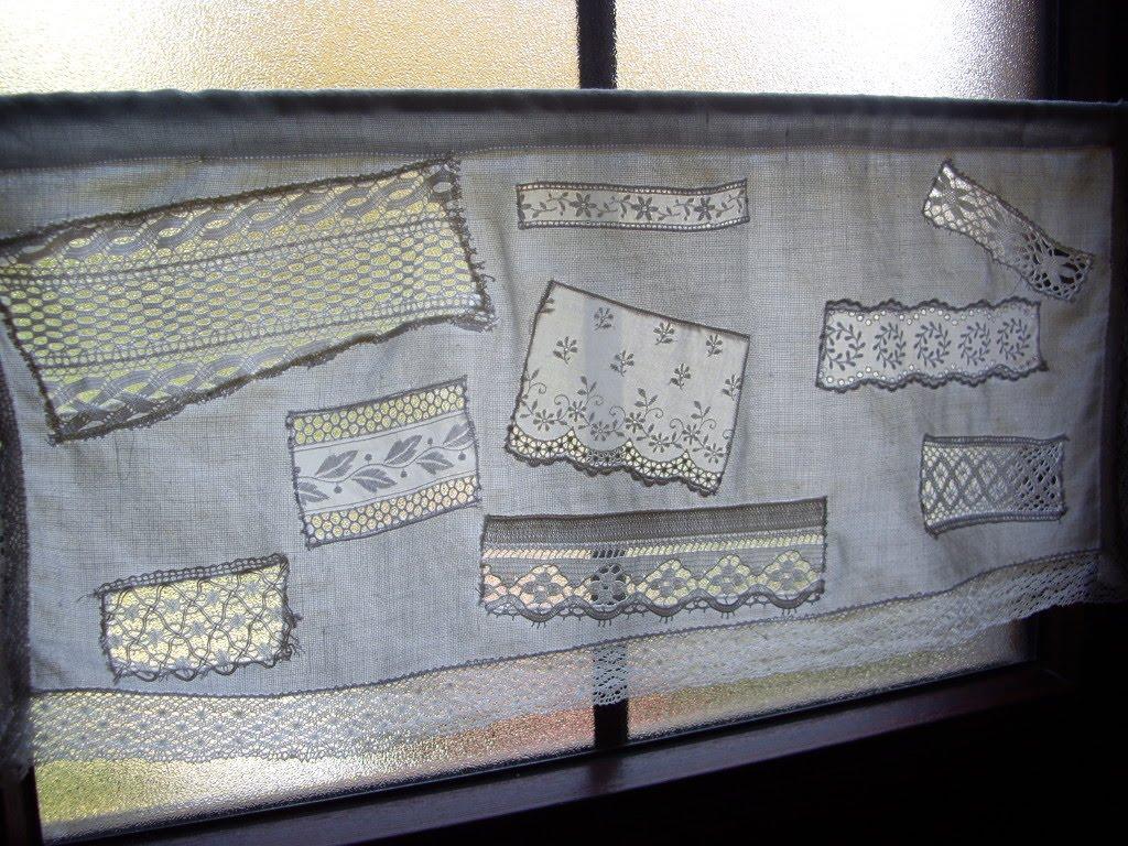 Entre barrancos manualidades cortina con muestrario - Muestrario de telas para cortinas ...