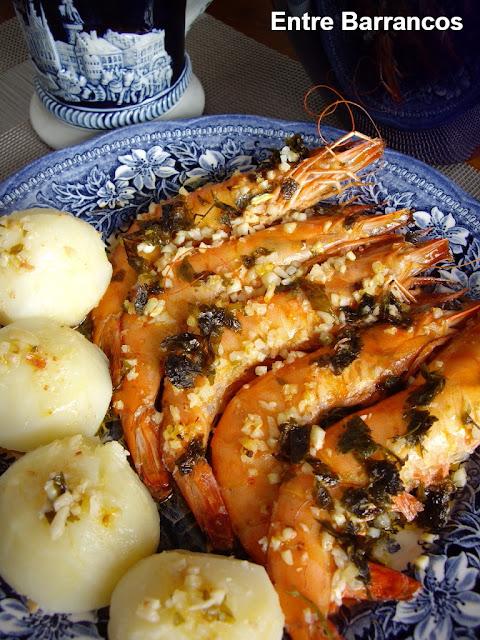 Entre barrancos cocina langostinos al horno for Langostinos al horno
