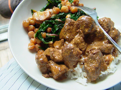 Rogan Josh Day 234: Lamb Rogan Josh and Roasted Chick Peas with Chard