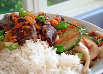 Bolgogi+Beef Day 261: Bulgogi (Korean Barbecued Beef) and Marinated Cucumber Salad