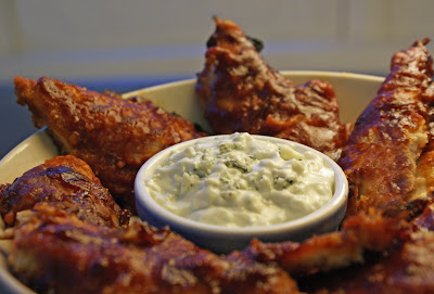 Buffalo+Chicken+Strips BBQ Buffalo Chicken Strips with Blue Cheese Dip