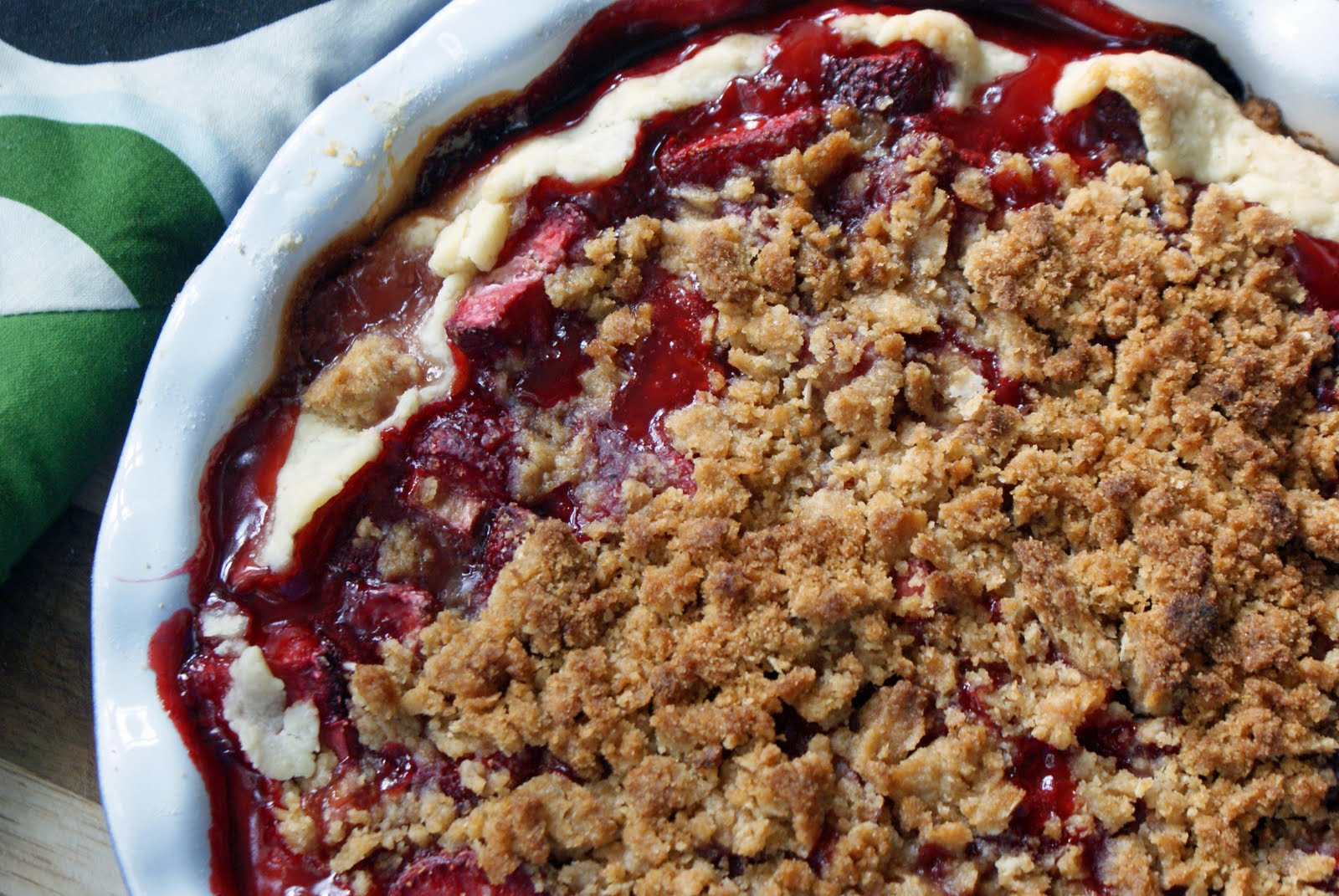 Strawberry Rhubarb Pie with Sour Cream Ice Cream - Dinner With Julie