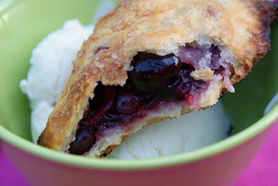 Sour+cherry+pie+and+ice+cream Burgers, then Cherry Hand Pies and Sour Cream Ice Cream