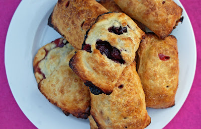 Sour+cherry+pies+ +plate Burgers, then Cherry Hand Pies and Sour Cream Ice Cream