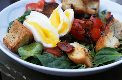 Bacon+%26+egg+spinach+salad Bacon & Egg Spinach Salad