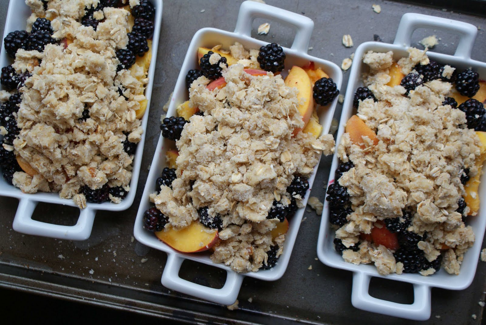 Pin Peach Blackberry Whole Wheat Nut Cobbler Easy Using Cake on ...