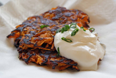 Curried%2Bsweet%2Bpotato%2Blatkes Curried Sweet Potato Latkes