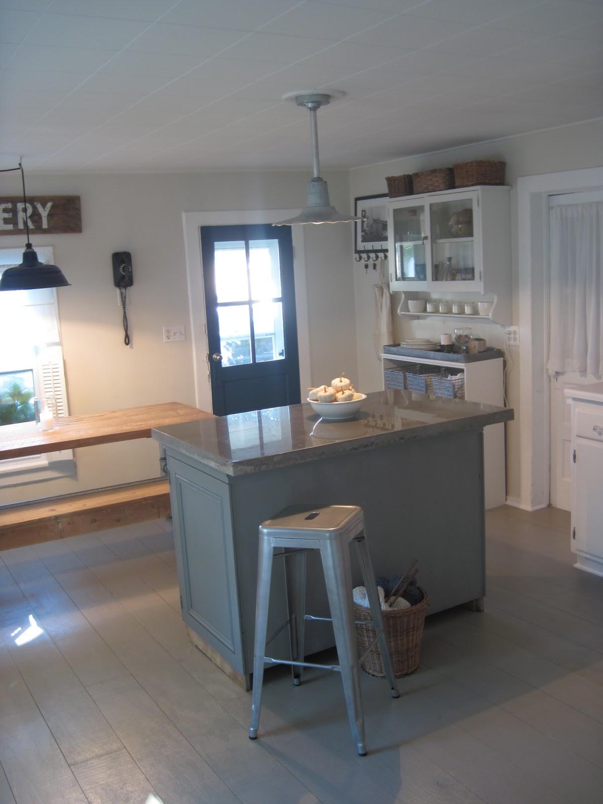 Benjamin Moore New York State Of Mind Kitchen Island