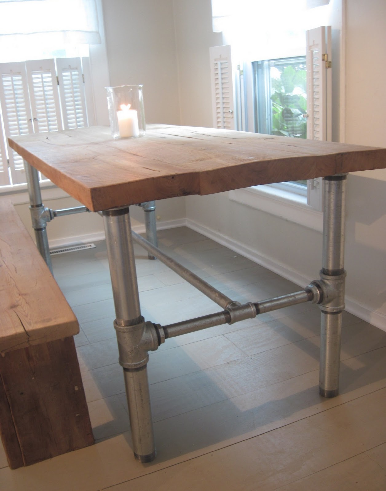 Back to home design industrial table base tutorial - Kitchen table bases ...