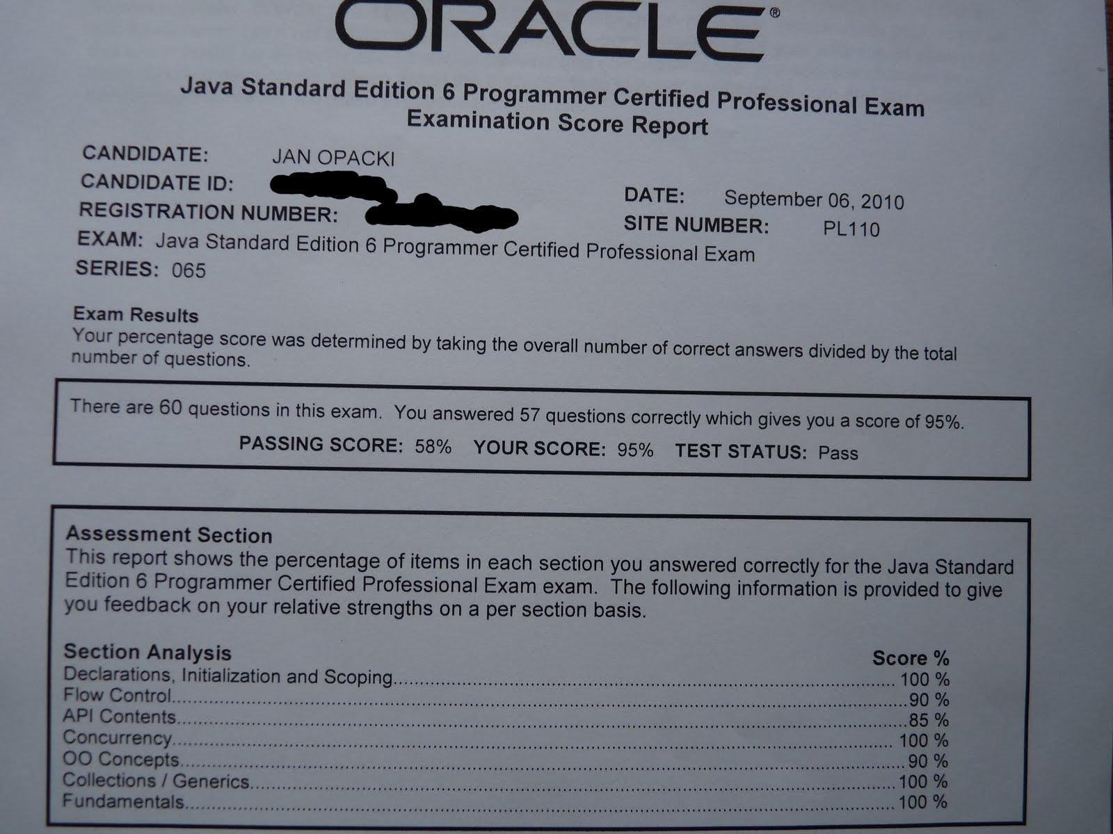 Jan\'s Software Engineering blog: Oracle Certified Professional Java ...