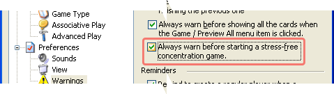 Stress-free Game Warning in Concentration - the Memory Games 5.0