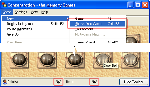 Starting a Stress-free Game in Concentration - the Memory Games 5.0
