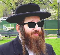rabbi with Hugo Boss sunglasses