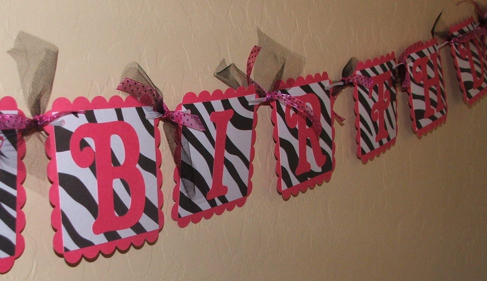 JustBeccuz: Hot Pink Zebra Print Happy Birthday Gift Package