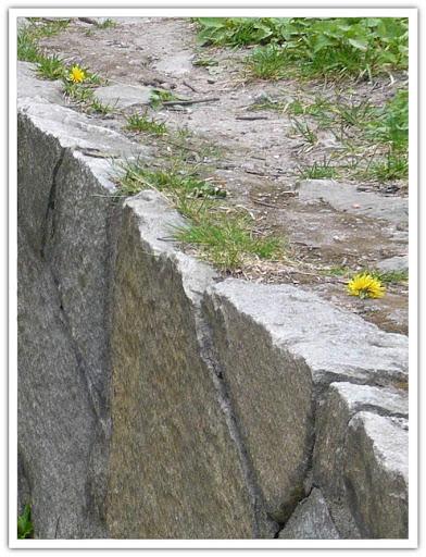 Detalj från stenmur