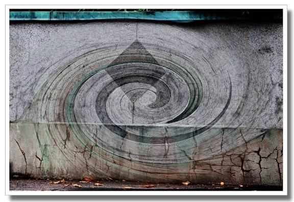 Mur med virvel