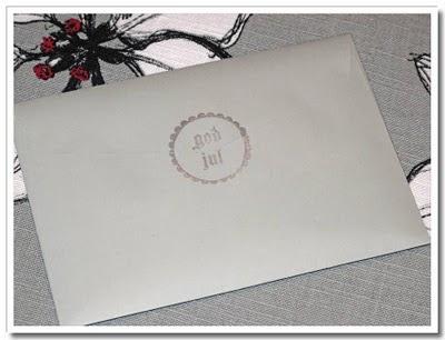 Dekoration på kuvert