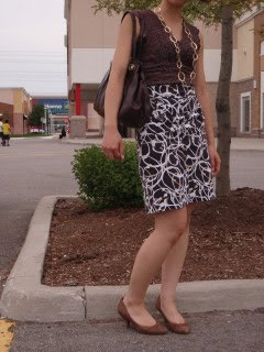 Work Wear: Cream and Brown and a long lost skirt