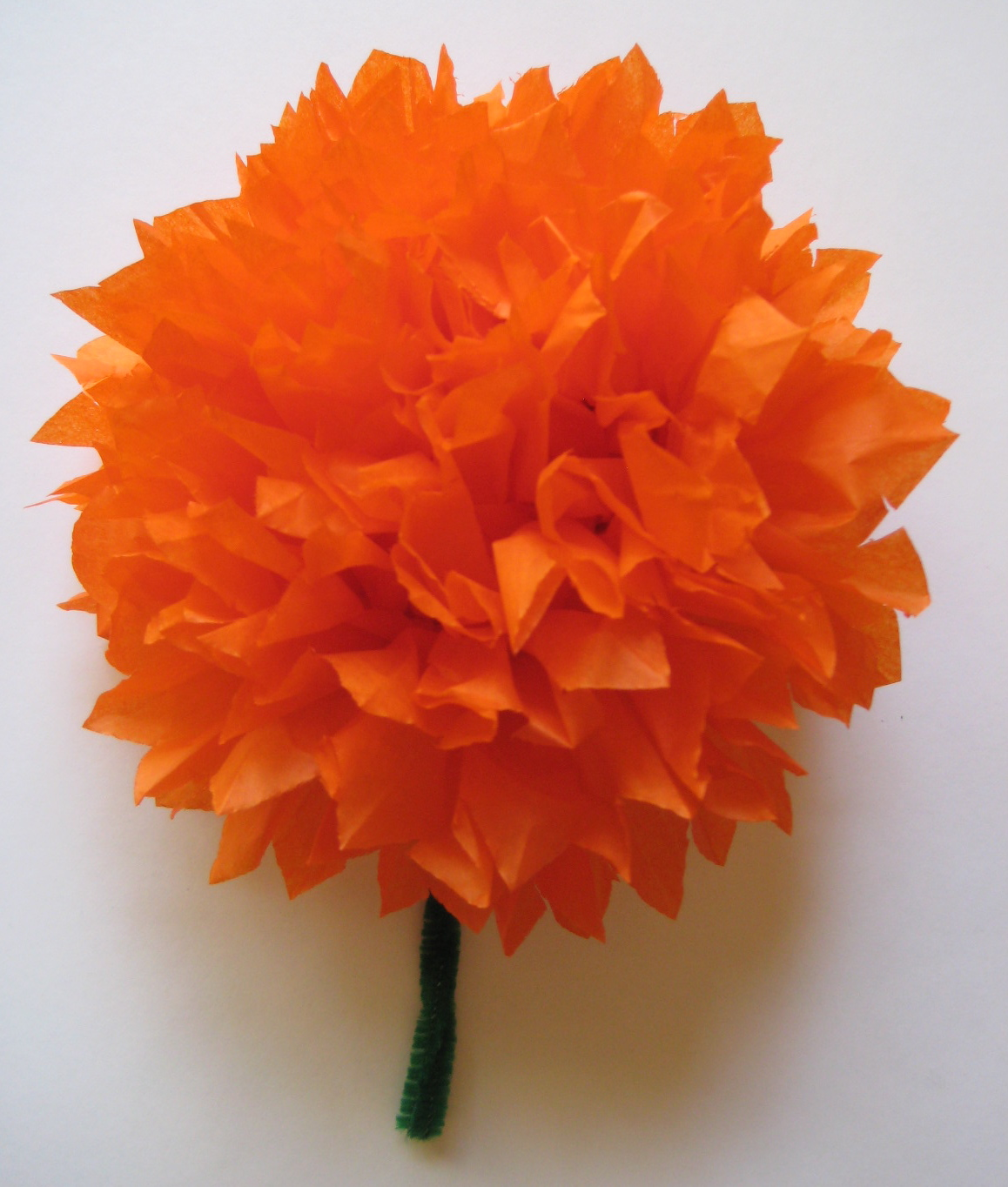 Tissue Paper Marigold Day of the Dead Flowers