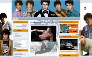 plantilla de Nick Jonas para blogger