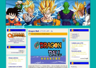 Plantilla de Dragon Ball z gratis para Blogger