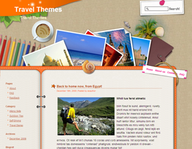 Plantilla Travelling Logbook  para blogger