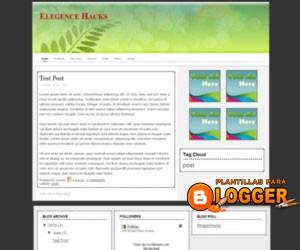 Plantilla para blogger Elegance Hack