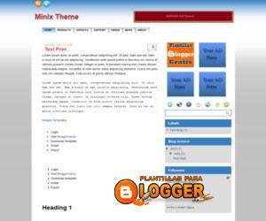 Plantilla Minix Theme para Blogger