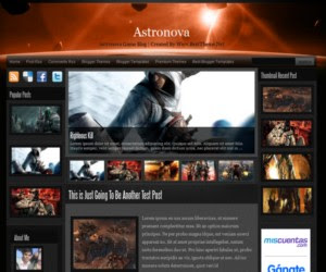 Plantilla para blogger astronova