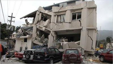 A 7.0 earthquake hits impoverished Haiti.