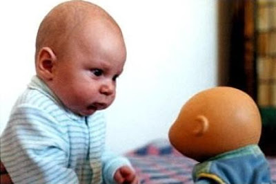 Cloned infant funny picture