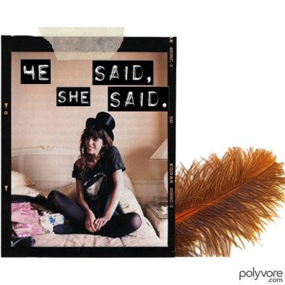 He said, she said.