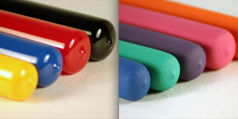 Plastic Caps, Plastic Plugs, Plastic Grips High Gloss vs Soft
