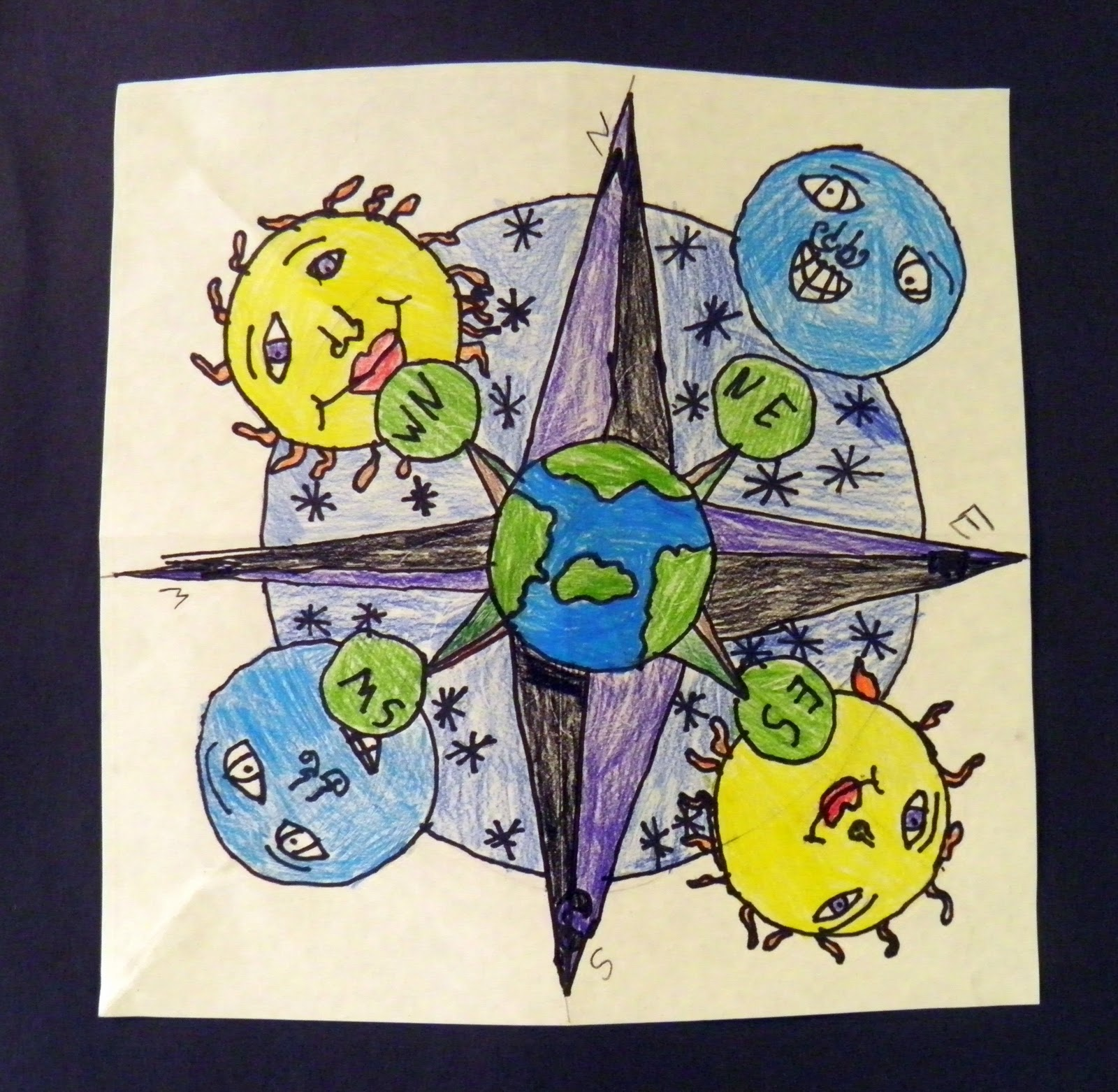 how to make a compass rose for kids