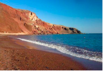 On these Greek beaches you will find red, black, pink, or white sand ...