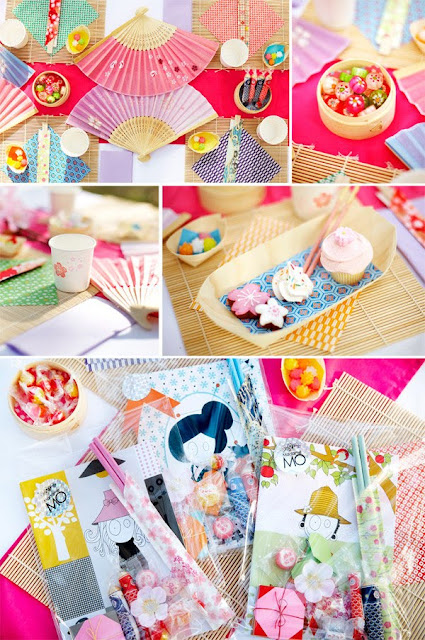 Hello naomi japanese tea party for Asian party decoration