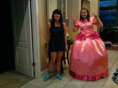 princess peach and princess daisy. princess peach and daisy