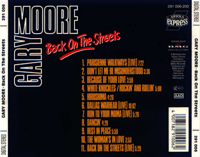 GARY MOORE 1979 Back On The Streets
