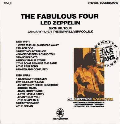 LED ZEPPELIN 1973-01-14 Liverpool