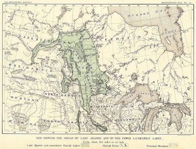 early map lake agassiz